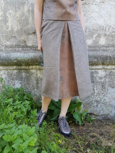 юбка из льна, шелк, окрашенный растениями, мастер-класс