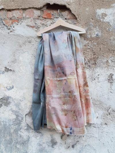 шарф из шерсти и шелка