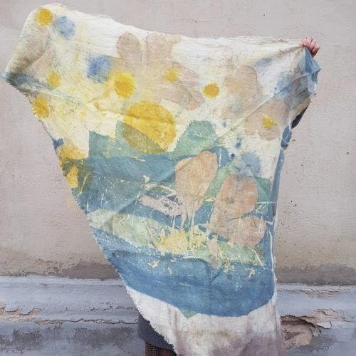 шарф окрашен растениями как сделать