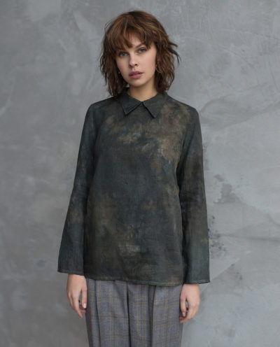 блузка с разводами