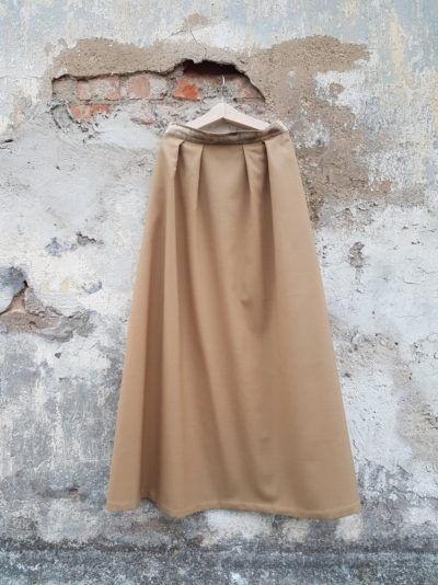 юбка из шерсти песочный оттенок