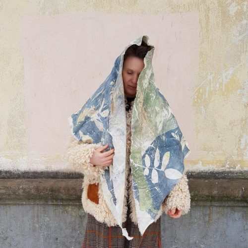 купить льняной шарф