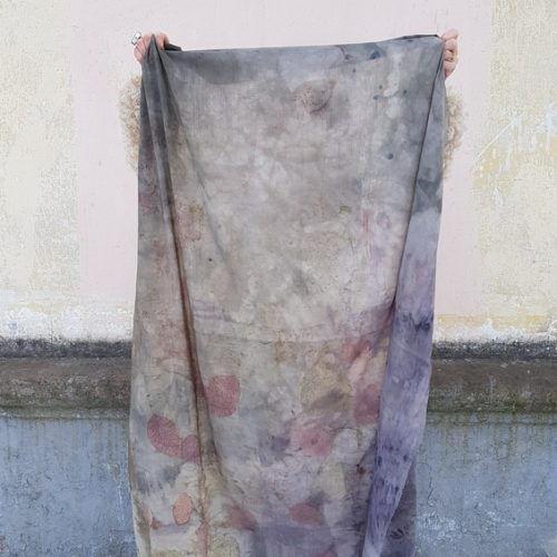шарф эко принт