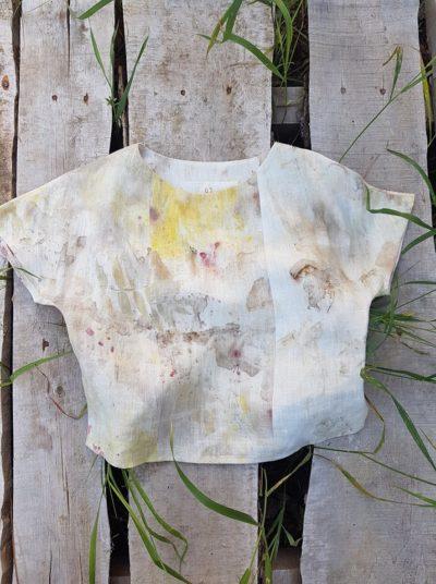 Льняная блузка «Ветер» Poetka