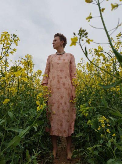 Розовое платье Авторская одежда poetka.by