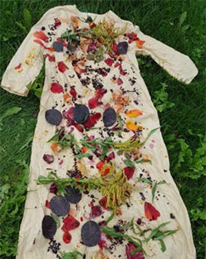 как окрасить платье растениями